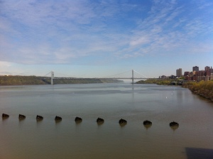 Il ponte George Washington visto dal Riverbank State Park