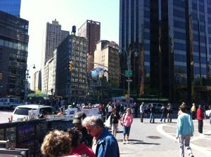 Scorcio di Columbus Circle! Non è altro che una rotonda normale.
