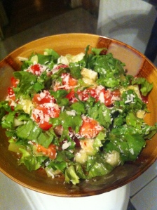 Et voila! The fusion salad is ready!