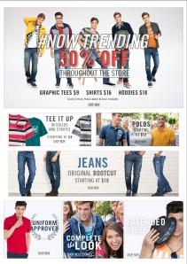 Ecco, volevo salvare solo l'immagine dei jeans ma mi si è salvata tutta. Fa niente, faccio un po' di pubblicità: li ho presi da Aeropostale! Un buon brand, mi piacciono! Li trovate anche su aeropostale.com (immagine: dal sito aeropostale.com)