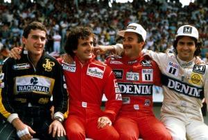 Senna, Prost, Mansell e Piquet, orgoglio della Formula 1 della mia gioventù (immagine: dalla rete)
