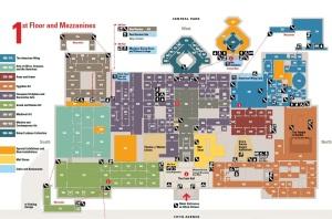 MET first floor and mezzanine maps