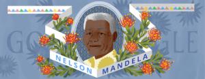 Nelson Mandela doodle 2014