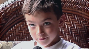 Nico Calabria when he was a child (from adweek.com).