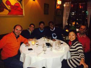 """Farewell Dinner"" at Luna Rossa restaurant (end of 2014), the Italian restaurant in the Upper East Side where Massimiliano works!"