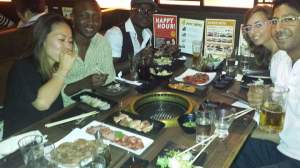 Kalib's birthday party at Gyu-Kaku Japanese freaking grill!! Love fresh Japanese meat that you cook by yourself!!